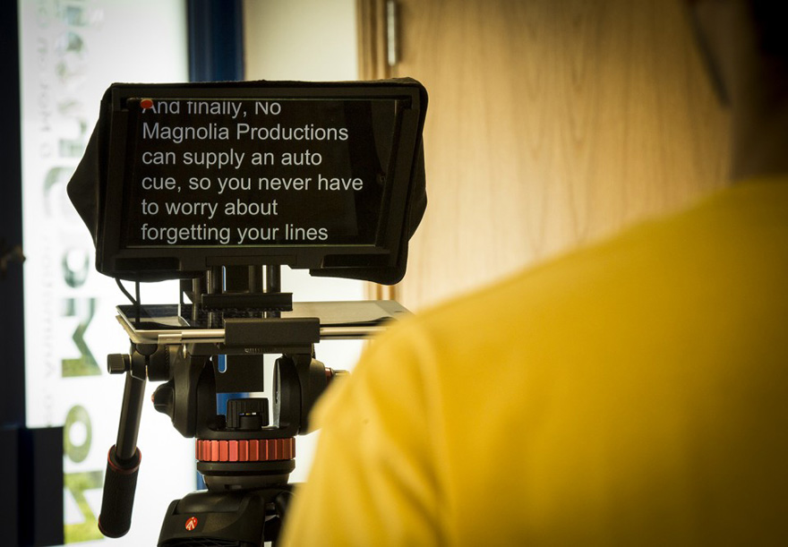Never forget your lines with an autocue