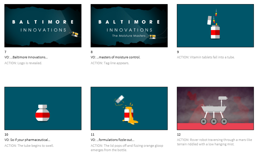 Baltimore Innovations – initial storyboard
