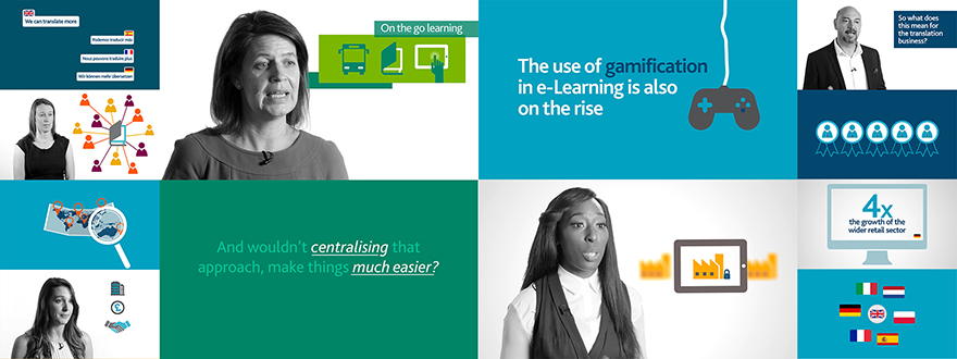 A sample of the graphics and interviews created for Capita