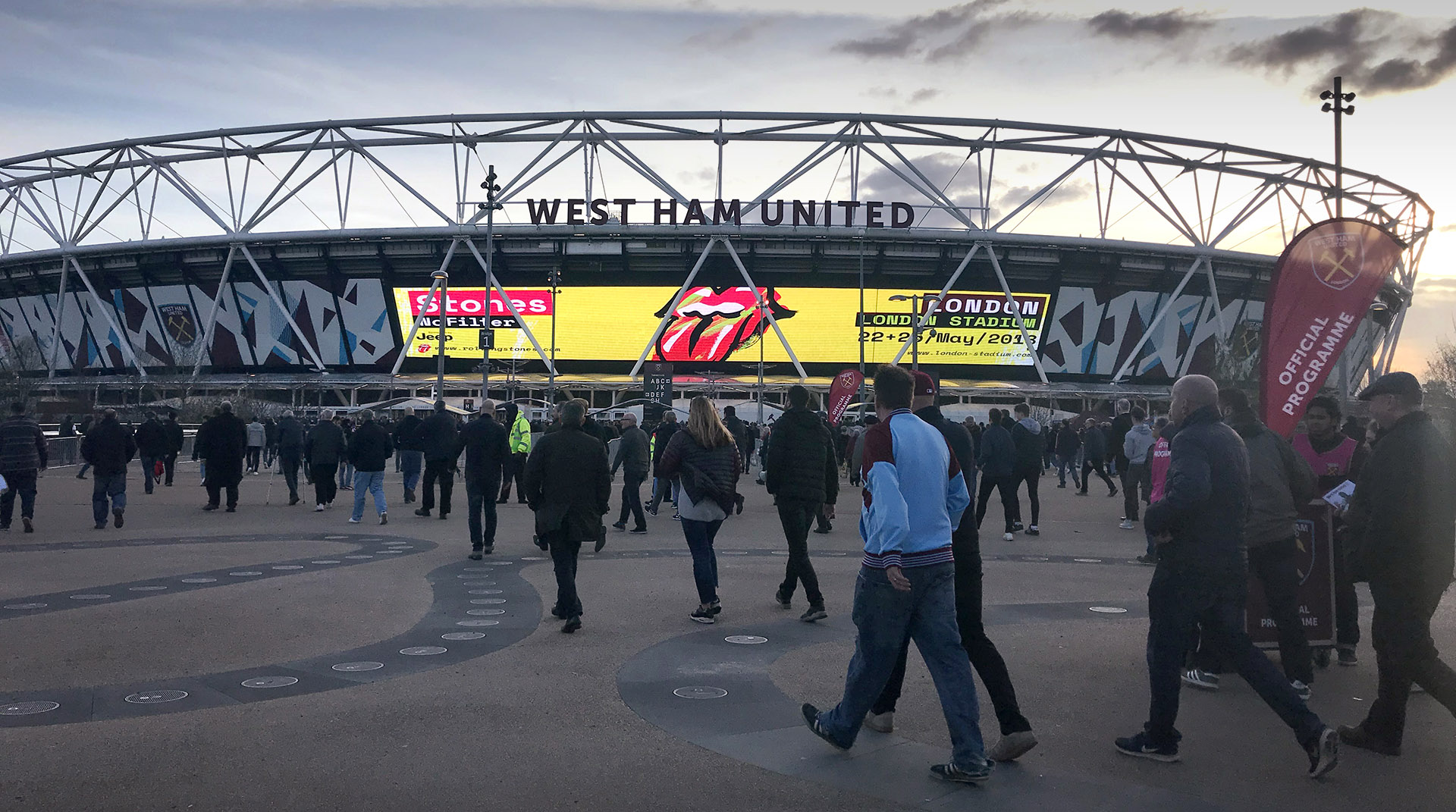 Stones promo in action at London Stadium